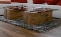 Suche: Wohnzimmer-Tisch Balken und Glas - Mbel & Wohnen ...