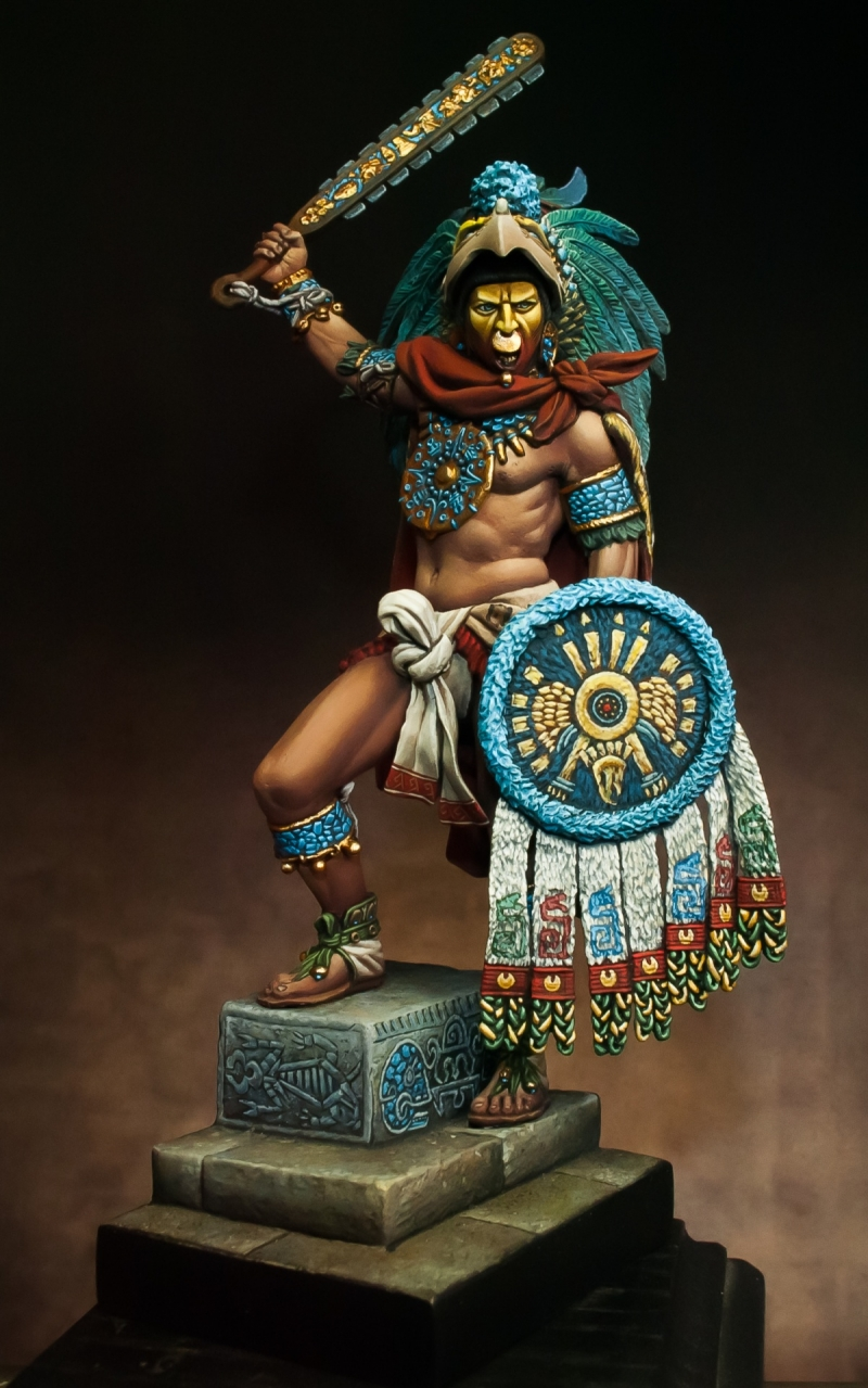 Tattoo Wallpaper 3d Montezuma Aztec Emperor By Alessandro 183 Putty Amp Paint