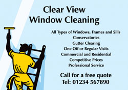 Window Cleaner Flyers With Free Delivery Putty Print