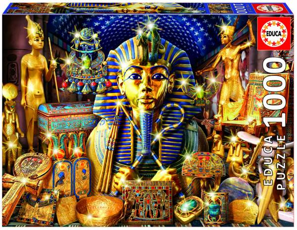 3d Cheetah Wallpaper Puzzle Educa Puzzle De 1000 Piezas Puzzle Tutankamon