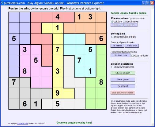 puzzlemix How to solve Jigsaw Sudoku puzzles