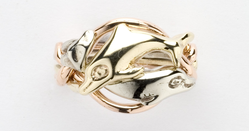 4DL Ladies Sterling Ring Dolphin p dolphin wedding rings Home Puzzle Rings 4DL Ladies Sterling Ring Dolphin