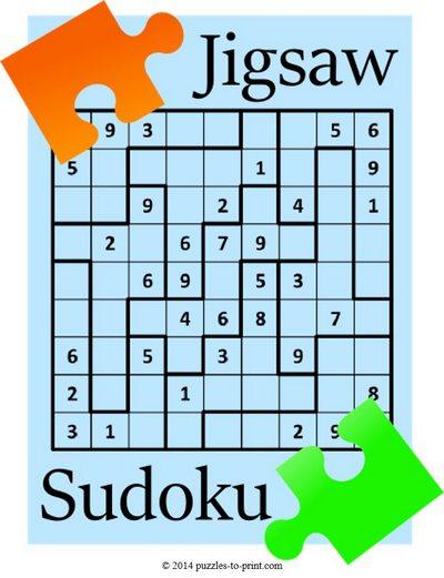 Printable Jigsaw Sudoku