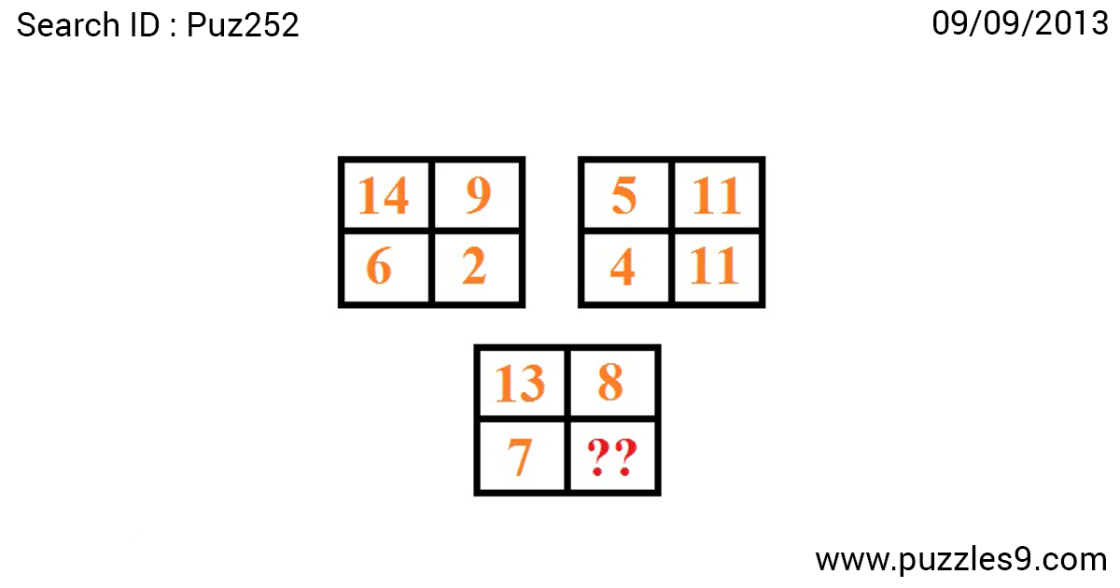 find missing number in this missing number puzzles with answers | puz252