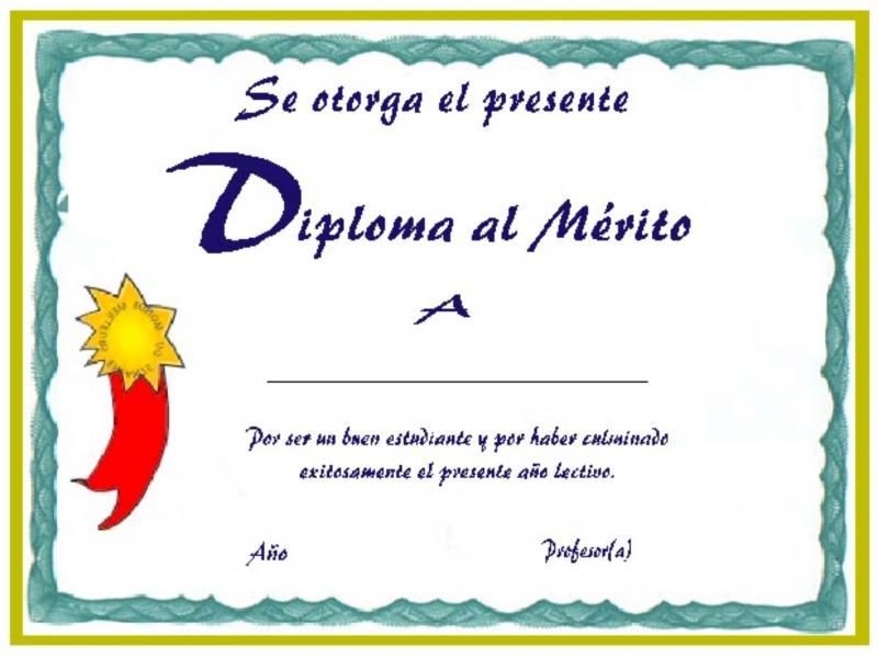 Diplomas Para Niños Rellenar - PassionX