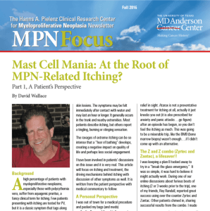 MPN Focus Fall2016 – MD Anderson Newsletter