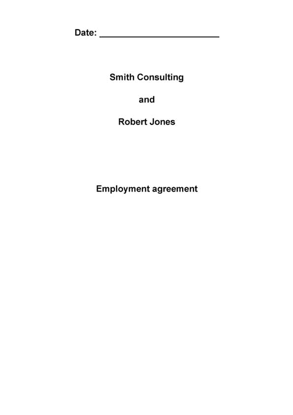Employee agreement - employment agreement in pdf