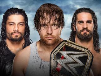 The Shield WWE Title match - Battleground PPV - July 2016 (photo credit WWE.com)