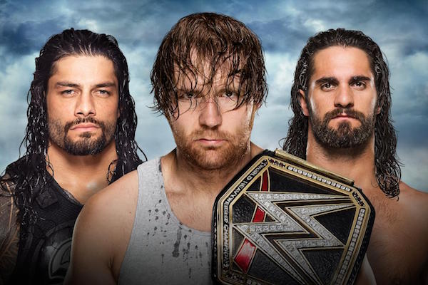 The Shield WWE Title match - Battleground PPV - July 2016 (photo credit WWE.com)