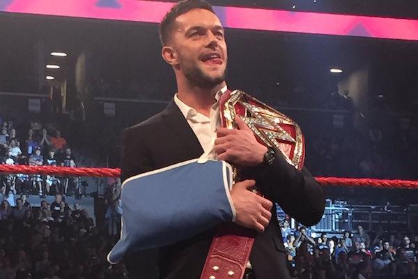 Finn Balor WWE Universal champion - August 22, 2016 Raw (Photo credit Ben Tucker)