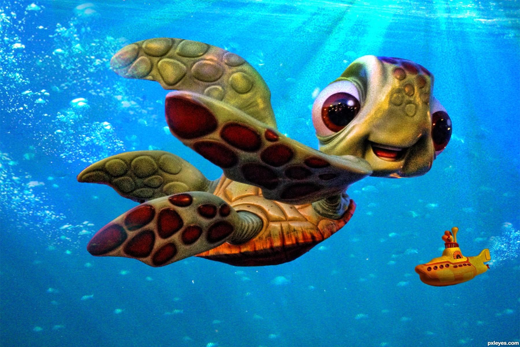 Ocean Waves Iphone Wallpaper Baby Turtle Cartoon Nemo