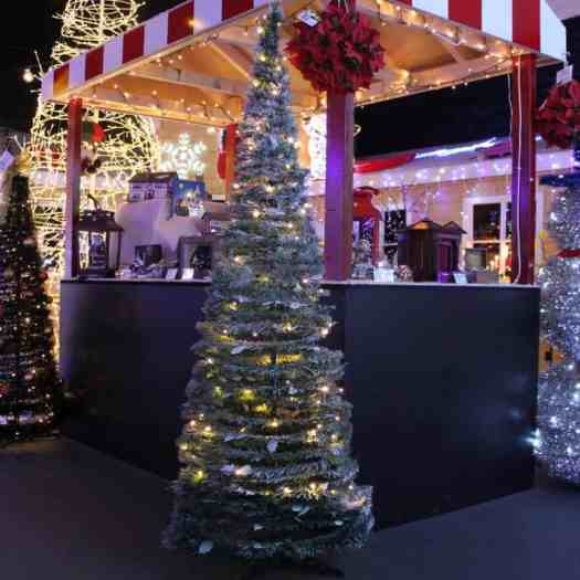 white pop up christmas tree