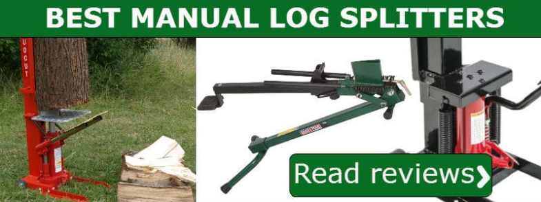 manual log splitter reviews