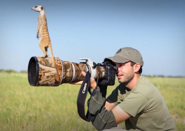 """فيديو وصور: أحد مصوري الحياة البرية يلتقط صوراً رائعة لحيوان """"السرقاط"""""""
