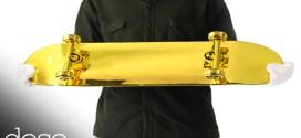 فيديو: شاهد عملية تصنيع لوح تزلج مطلي بالذهب قيمته 15,000 دولار !