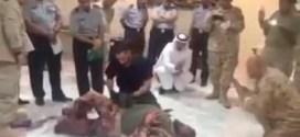 فيديو يتم تداولة على انه لضابط امريكي انفجر به لغم بالكويت (لكنه تدريب عسكري)