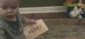 فيديو: رضيع بعمر 16 شهراً يمكنه قراءة الكلمات وتمييزها !