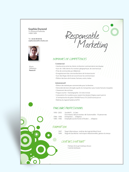 cv responsable marketing exemple