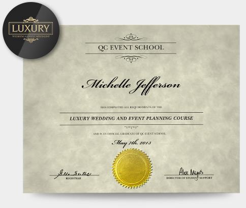 Luxury Wedding  Event Planning Specialization - QC Event School