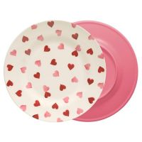 Pink Hearts Melamine Plate - Buy Online at QD Stores