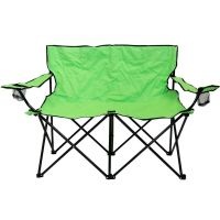 Double Folding Camping Chair Love Seat Sofa Travel Chair ...