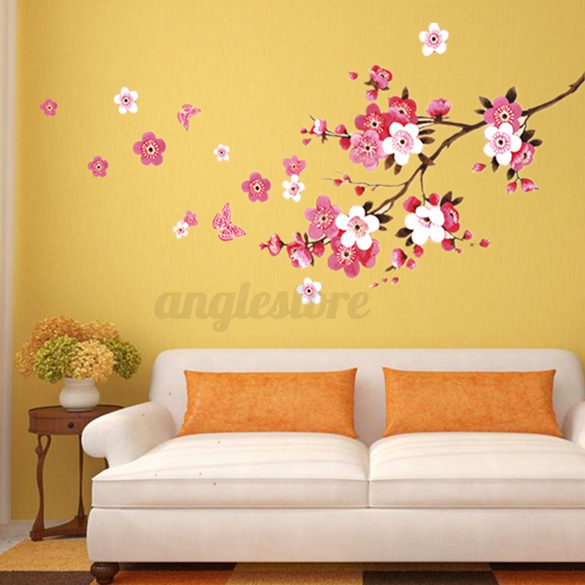 Large Sakura Flower Removable Wall Sticker Paper Mural Art