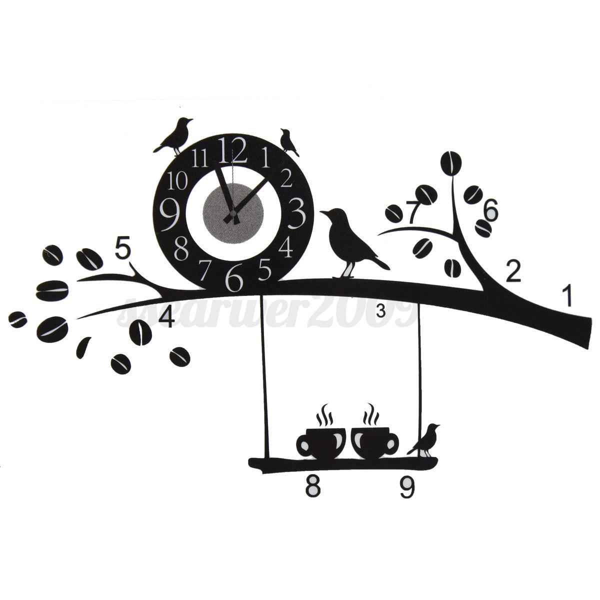 Modern Style DIY Clock Wall Sticker Wall Clock Decal Art