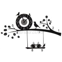 Modern Style DIY Clock Wall Sticker Wall Clock Decal Art
