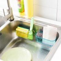 Kitchen Brush Holder Sponge Suction Sink Draining Towel ...
