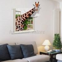 3D Dinosaur Animal Window Removable Wall Sticker Mural Art ...