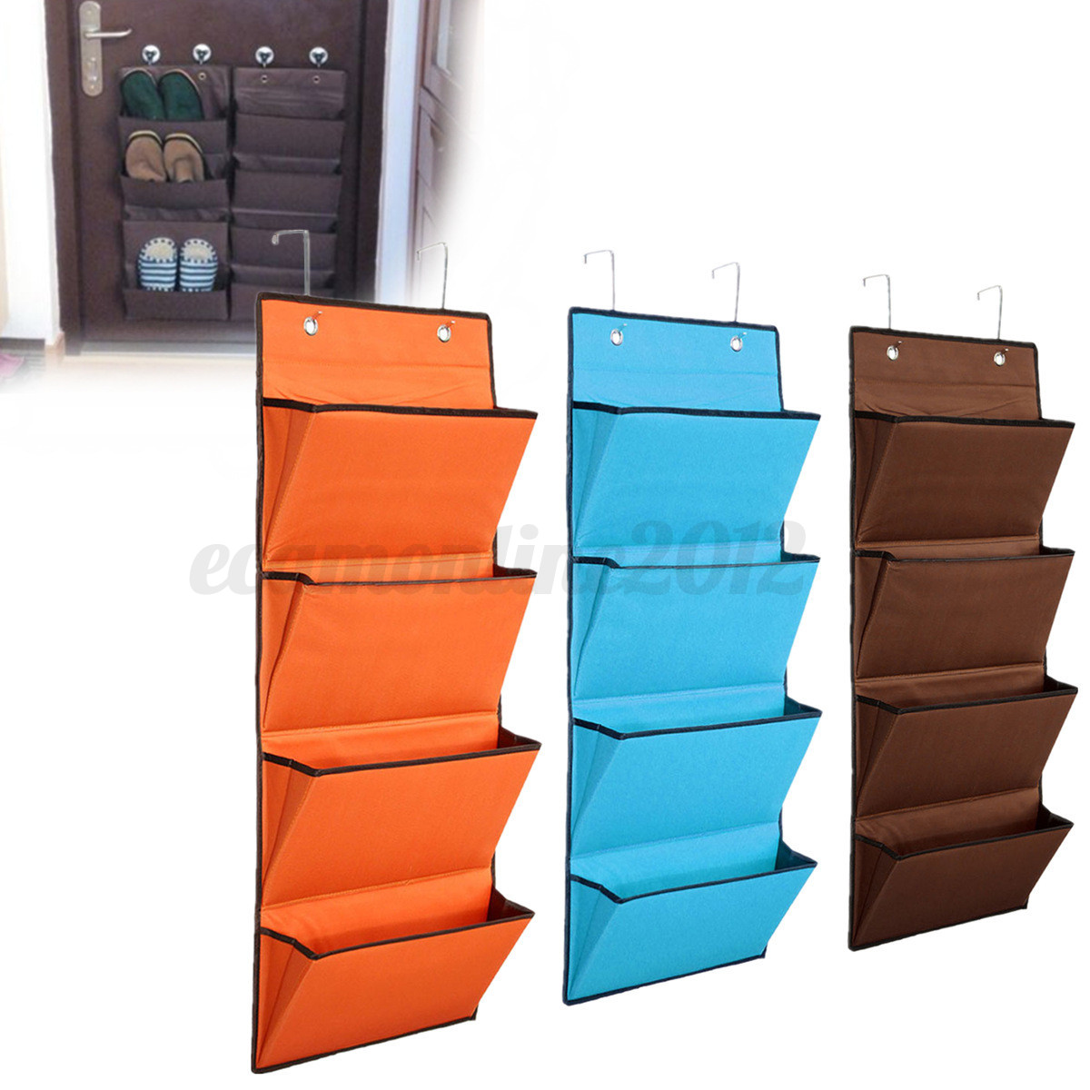 4 Tier Over Door Hanging Hook Organiser Organizer