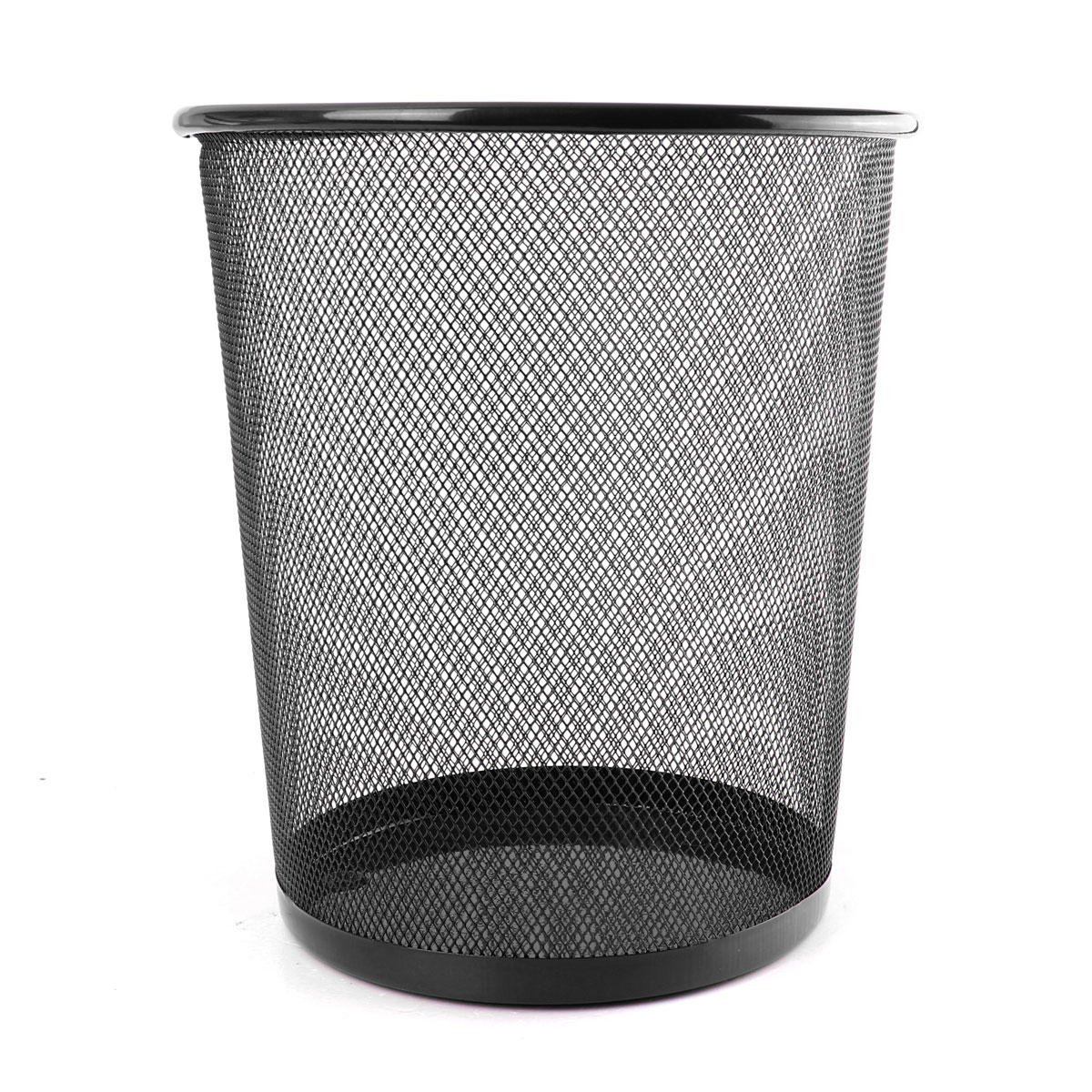 Office Can Metal Mesh Waste Bin Wastebasket Rubbish Paper