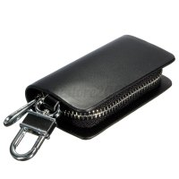 Leather Car Key Holder KeyChain Wallet Case Pouch Purse ...