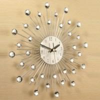 Modern Art Large Wall Clock Metal Sunburst Home Decor DIY ...