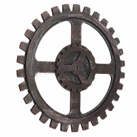 Wooden Gear Wall Art Industrial Antique Vintage Chic ...