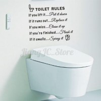 Removable Toilet Rules Quote Wall Sticker Vinyl Art Decal ...