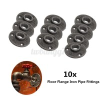 "1/2"" 3/4"" Black Malleable Cast Iron Pipe Fittings Floor ..."