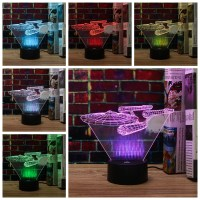 3D Star Trek USS Enterprise LED Night Light Touch Switch ...
