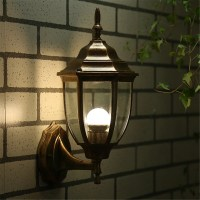 5 Style Wall Light/Retro/Modern/LED Bronze Lantern Glass ...