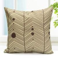 Cotton Linen Lattice Stripe Cushion Cover Throw Pillow ...