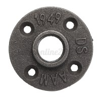 "1/2"" 3/4"" 1"" Black Malleable Floor Flange Iron Pipe ..."