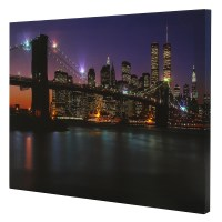 The Brooklyn Bridge LED Light Up Lighted Canvas Painting ...