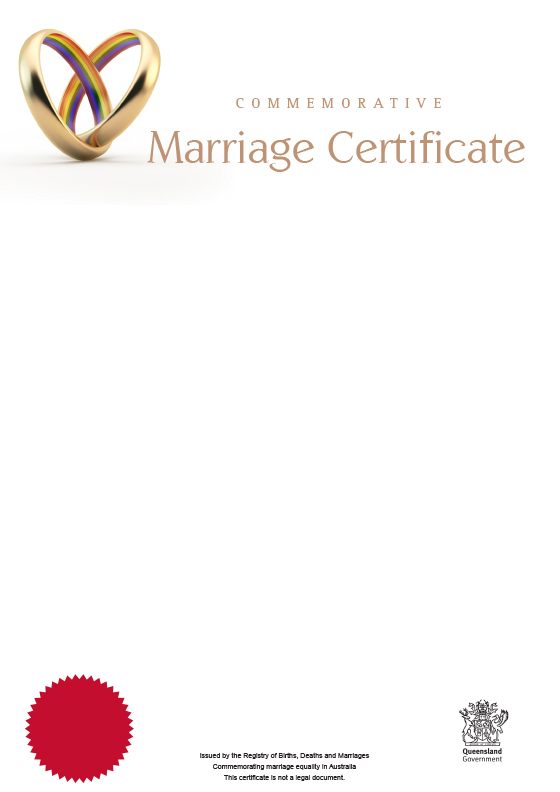 Queensland commemorative marriage certificates Your rights, crime