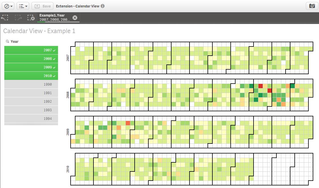 Calendar Visualization Tool Visit Visualization Tool Weapons And Complex Integration Calendar Heatmap Visualization Extension For Qlik Sense