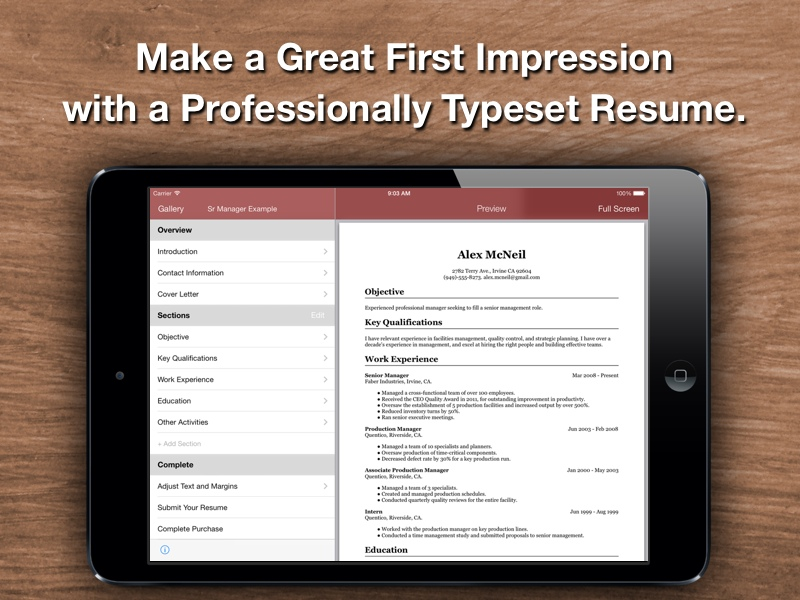 Resume Star Top Rated Resume Designer for the iPhone, iPad, and