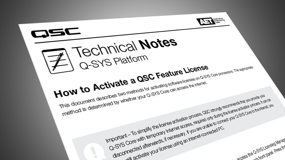 Q-SYS UCI Editor - Software Feature Licenses - Products, Peripherals