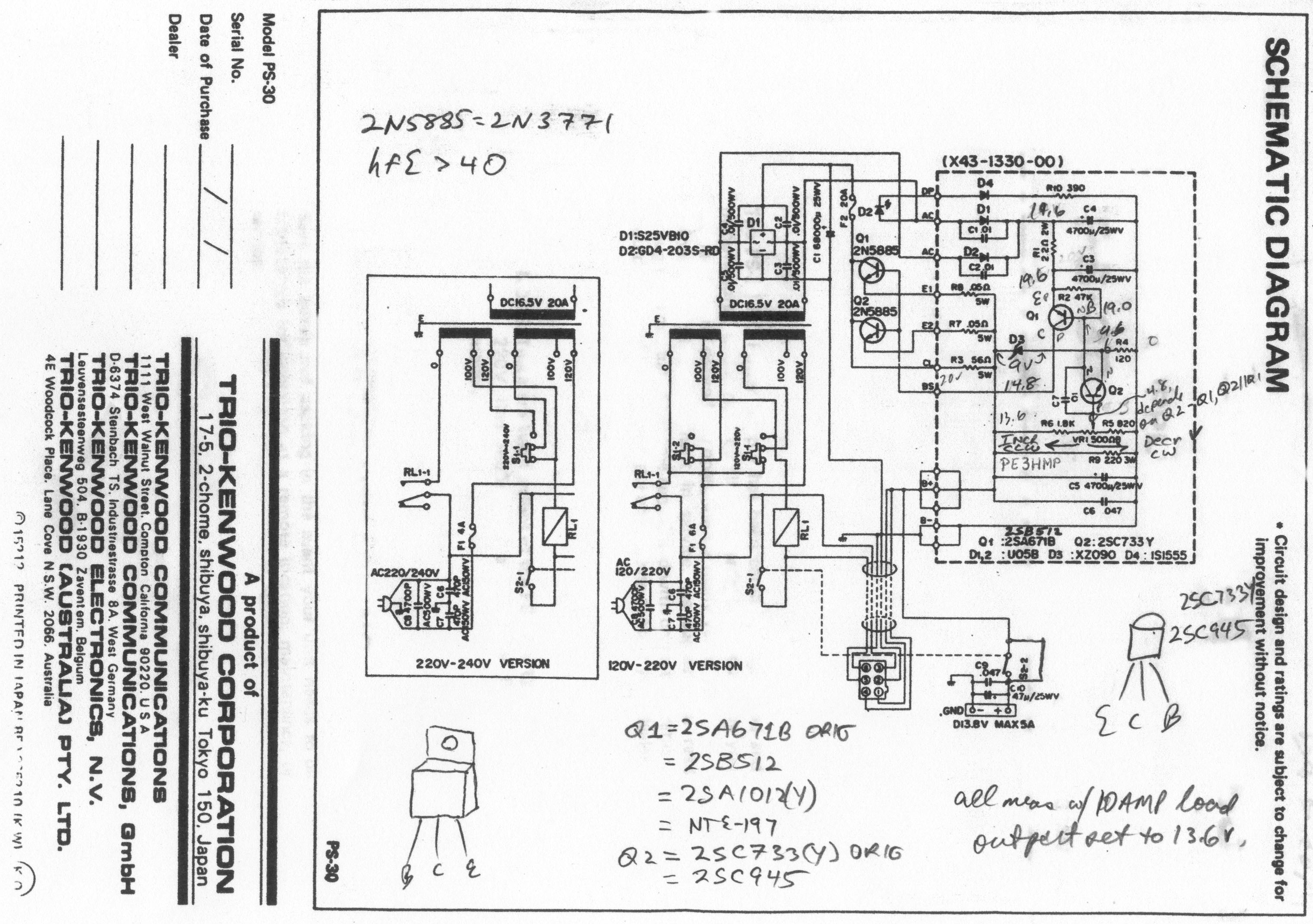 kenwood radio schematic