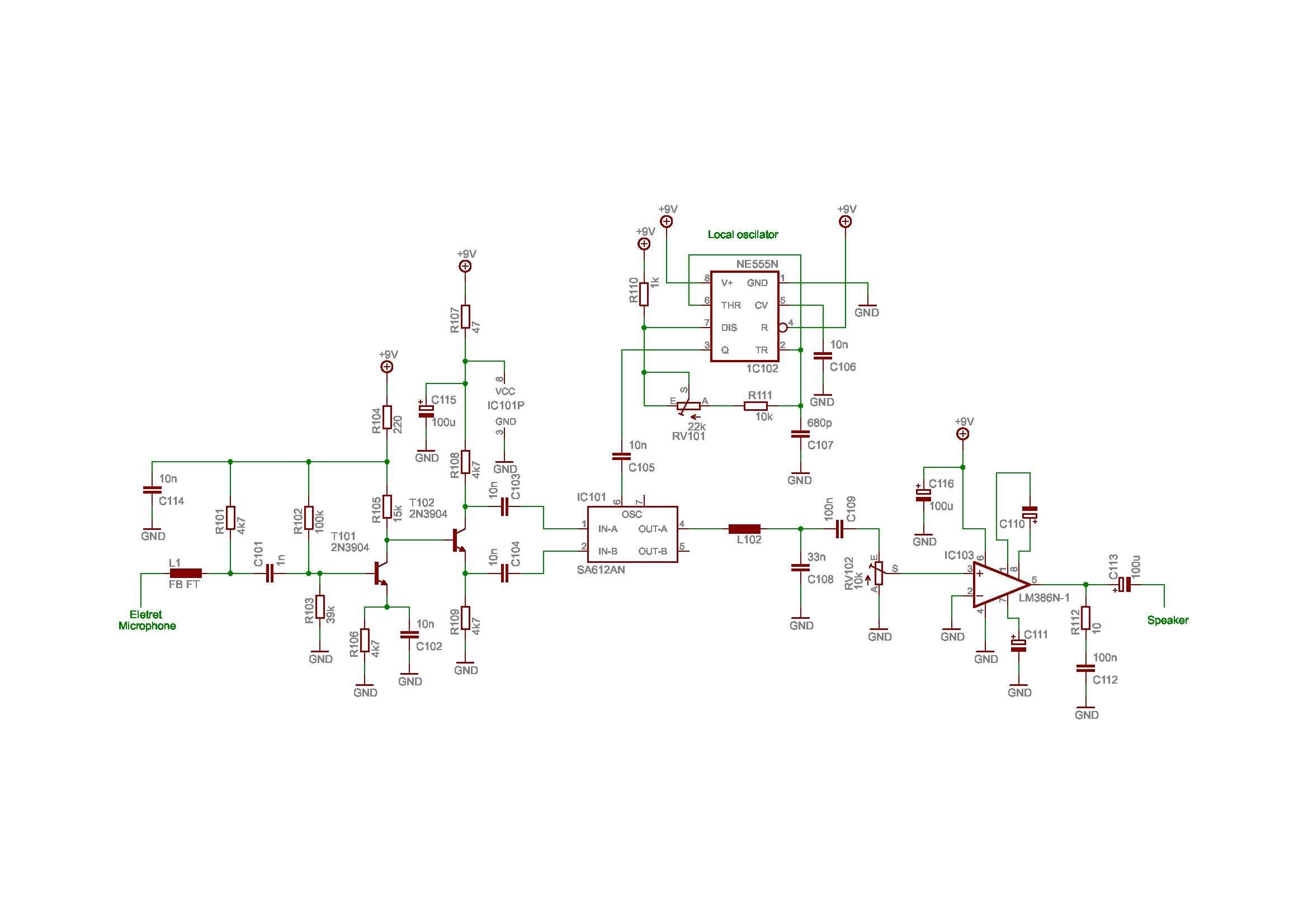 bat detector no3 schematic