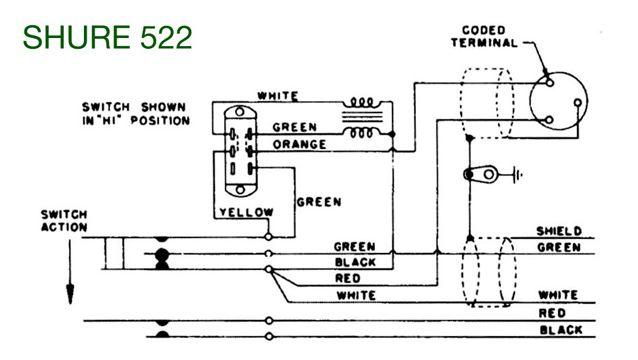 Shure Xlr 4 Pin Connector Wiring Diagram Shure Desk Mic Model Number 522 Qrz Forums