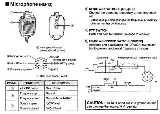 Hm 103 Microphone Wiring Diagrams Wiring Diagram